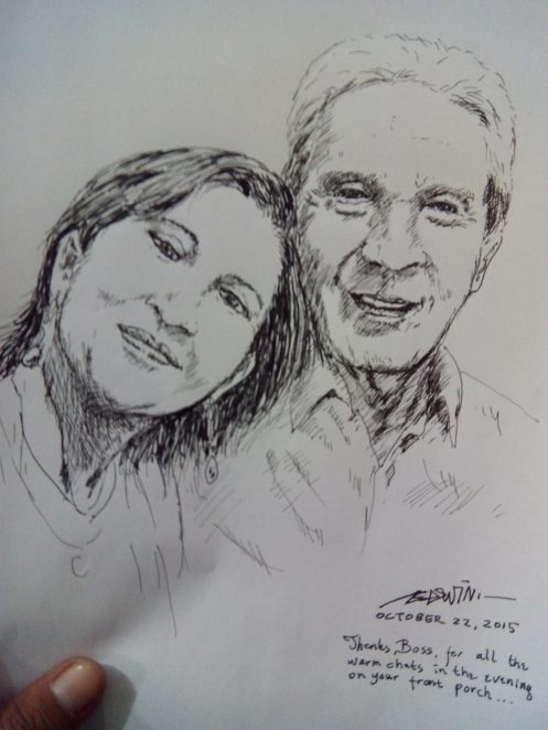 Anna & her Dad, one of the few most remarkable men I've ever known, who always treats me like his own son.