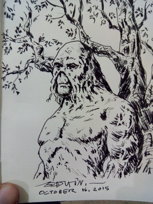Inktober 2015 Day 16: Swamp Thing