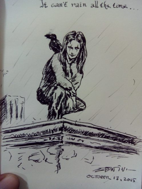 Inktober 2015 Day 17:  It Can't Rain All The Time