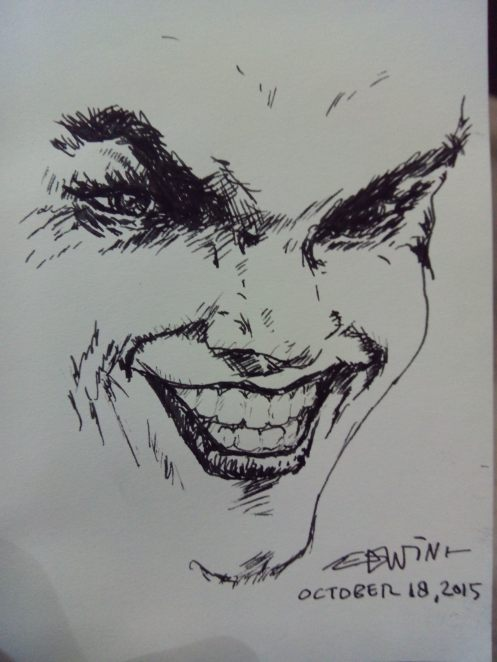 Inktober 2015 Day 18: The Joker